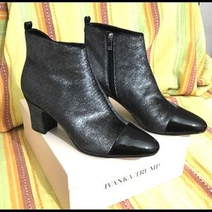 Silver IVANKA TRUMP Lundy 3 Booties Ankle Boot 10M
